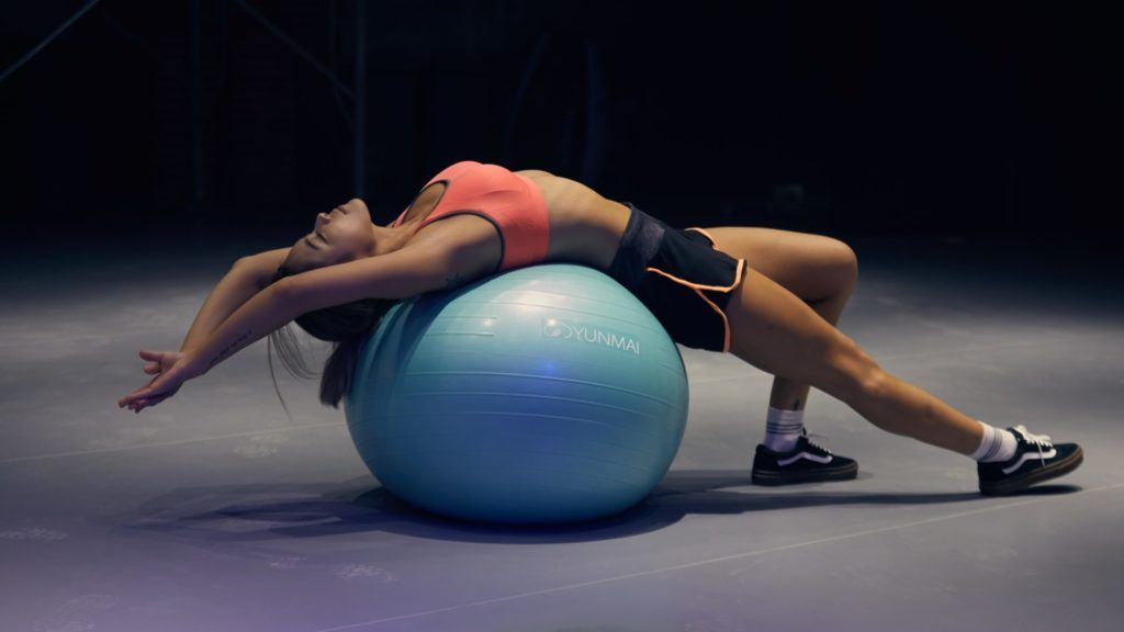 Trening fitball
