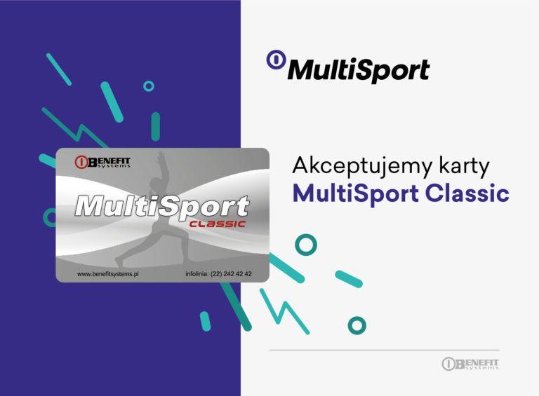 karta MultiSport Classic - Akceptujemy karty