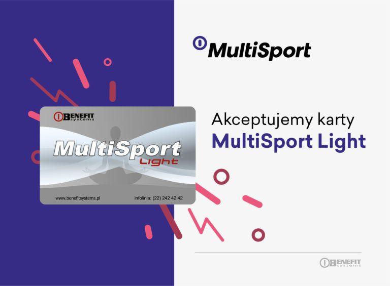 karta MultiSport Light - Akceptujemy karty
