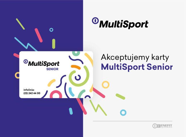 karta MultiSport Senior - Akceptujemy karty