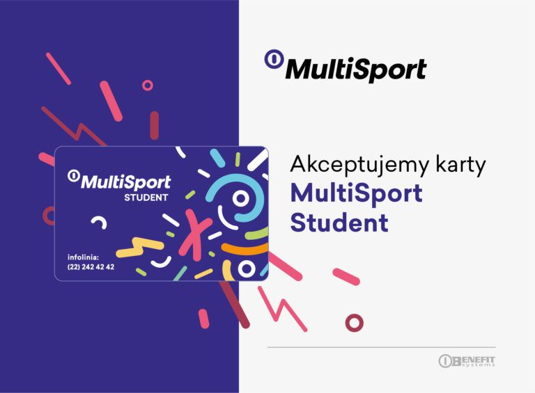 karta MultiSport Student - Akceptujemy karty
